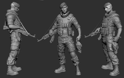 Spetsnaz - Zbrush Screen