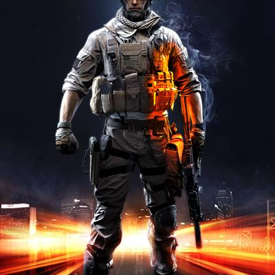 Battlefield 3 - man on fire